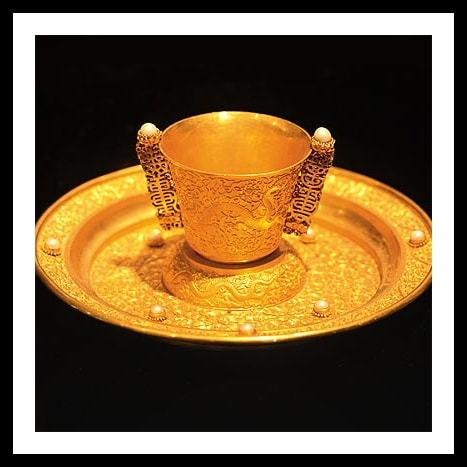 Gold cup Qing dynasty