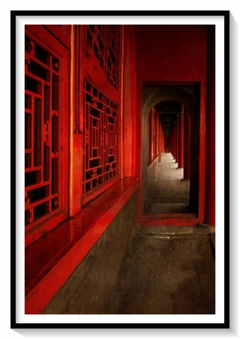 red corridor in forbidden city China