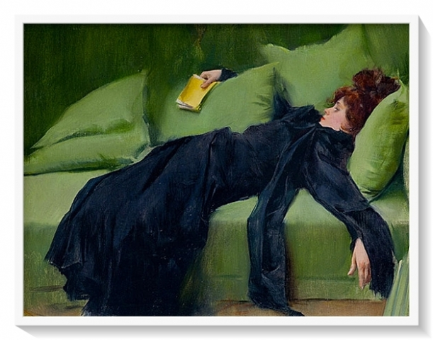 Ramon Casas - Decandent Young Woman. After Dance (1899). From Asneh moodboard.
