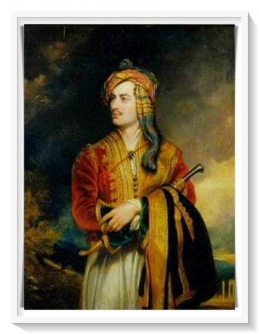 Lord Byron in Albania costume