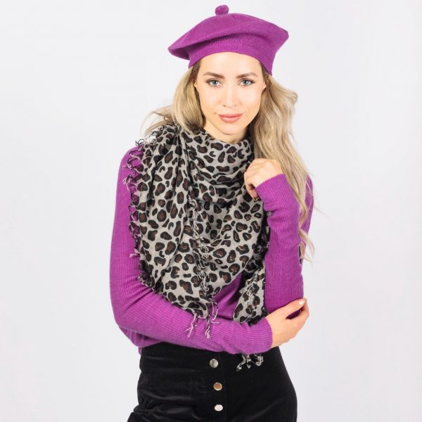 large cashmere leopard print scarf