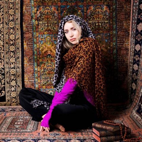 Asneh large leopard scarves