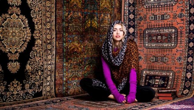 Large leopard cashmere scarves Asneh