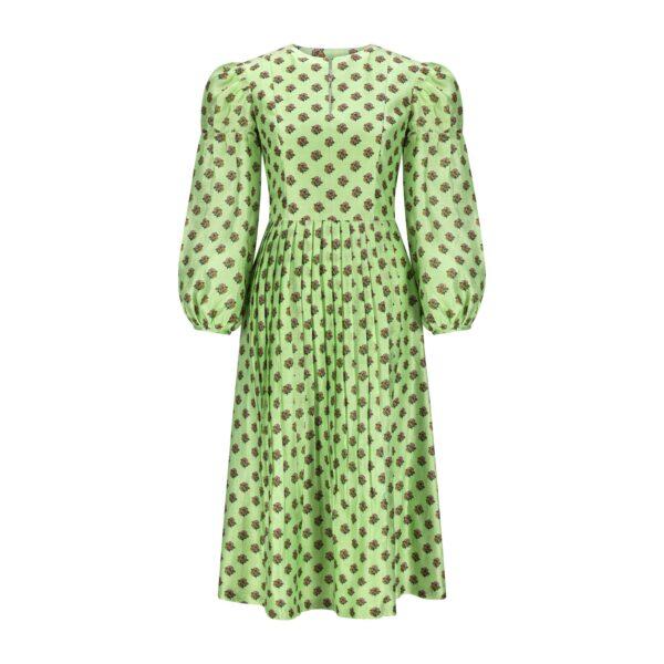 mint green print dress