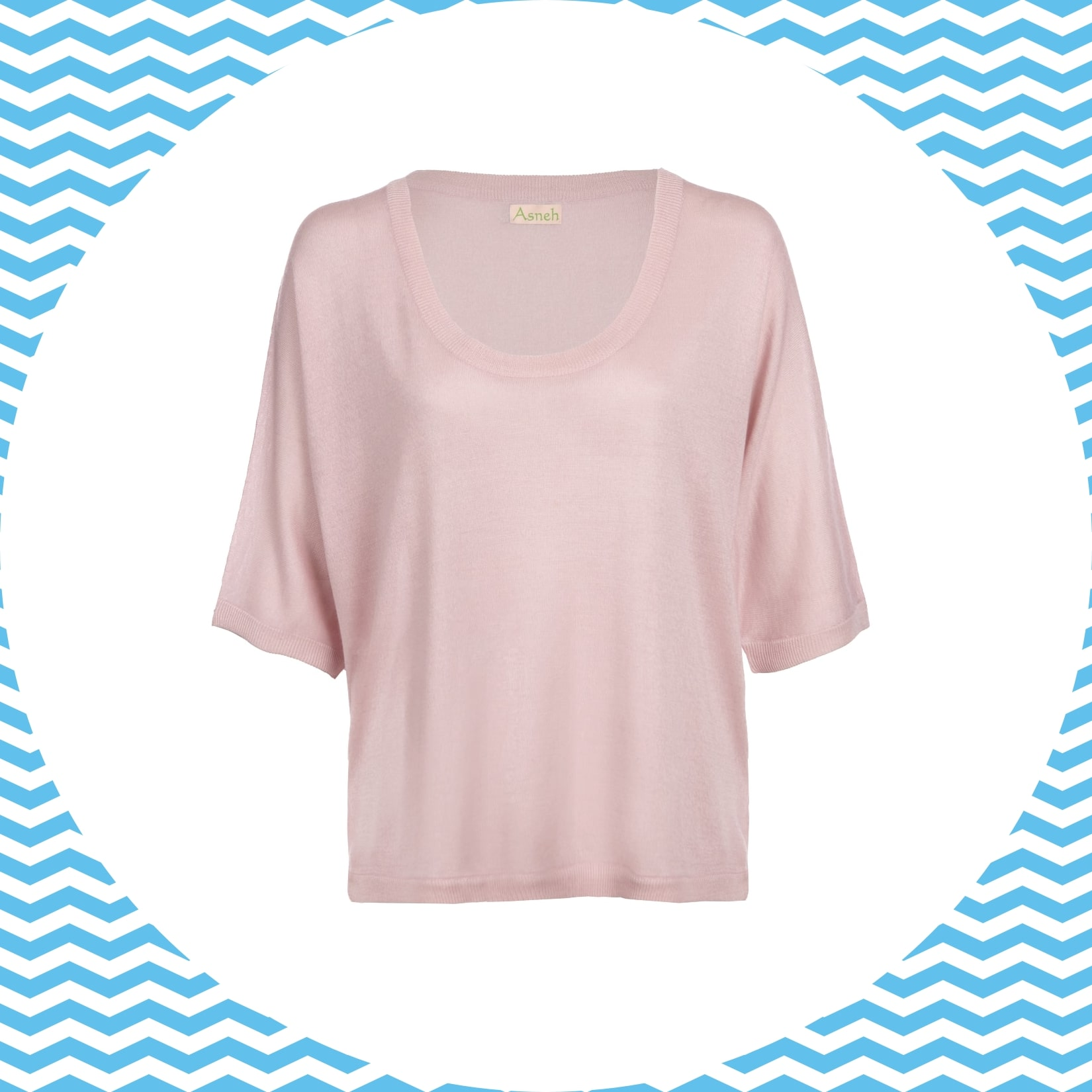 Batwing pink silk cashmere top