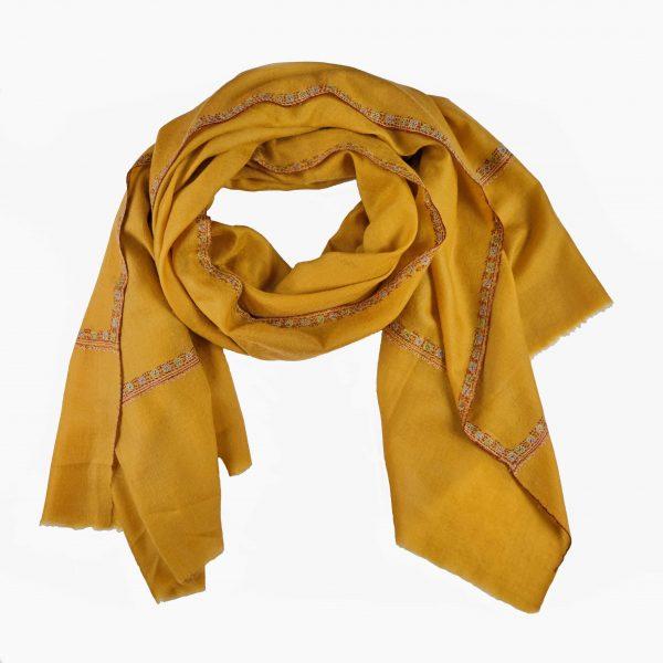 mustard yellow cashmere shawl